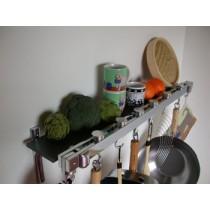 Track Rack 36'' Wall Pot Rack, Anthracite Grey