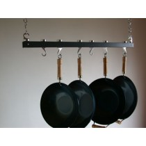 Track Rack 36'' Ceiling Pot Rack, Anthracite Grey