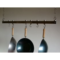 Track Rack 36'' Ceiling Pot Rack, Chrome