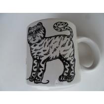 Chat Et Souris (Cat & Mouse) Vintage French Mug