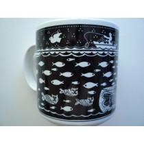 Cat/Fish - Primitives Mug