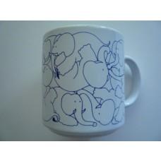 Elephants - Blue Daytime Animates Mug