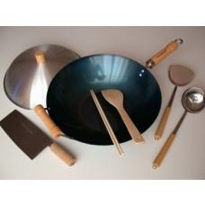 Traditional Chinese Kitchen Wok Set