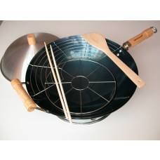 7-Piece Preseasoned Round Bottom Wok Set