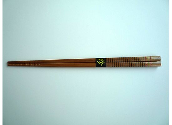 Silk Wrapped Dark Multi-Striped Chopsticks