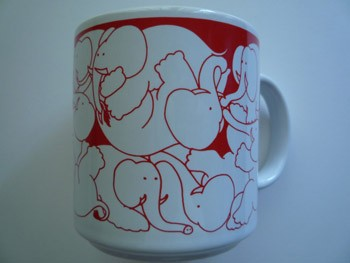 Elephants - Red Nitetime Animates Mug