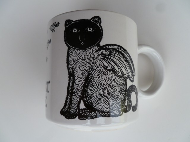 Le Chat Aile (Winged Cat) Vintage French Mug