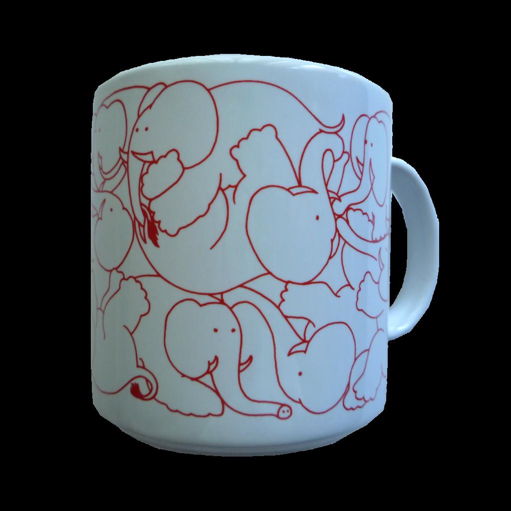 Elephants - Red Daytime Animates Mug 50678