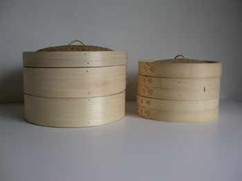 12'' Bamboo Steamer Set