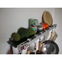 Track Rack 36'' Wall Pot Rack, Anthracite Grey
