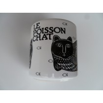 Le Poisson Chat (Catfish) Vintage French Mug