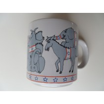 Election Wild Donkeys and Elephants Mug