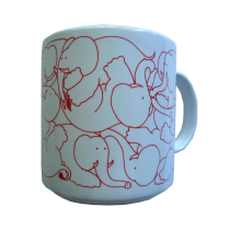 Elephants - Red Daytime Animates Mug 50678