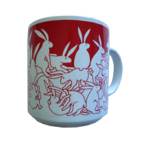 Rabbits - Red Nitetime Animates Mug 50686