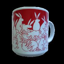Rabbits - Red Nitetime Animates Mug 50686