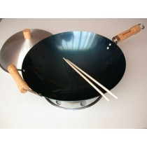 4-Piece Natural Nonstick Round Bottom Wok Set (Out of Stock, Accepting Pre-orders. ETA August)