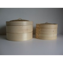 10'' Bamboo Steamer Set