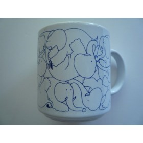 Elephants - Blue Daytime Animates Mug