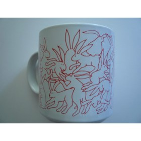 Rabbits - Red Daytime Animates Mug