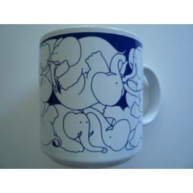 Elephants - Blue Nitetime Animates Mug