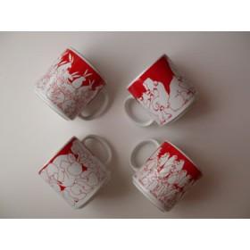 Red Nitetime Animates Mug Set (4/set)