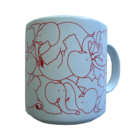 Elephants - Red Daytime Animates Mug