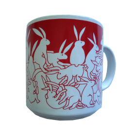 Rabbits - Red Nitetime Animates Mug